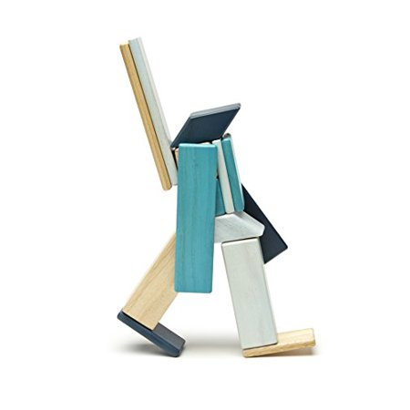 14 Piece Tegu Magnetic Wooden Block Set, Blues - image 2 of 4