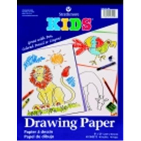 Strathmore Drawing Envelopes - Strathmore Top Tape Binding Kids Drawing Pad - 9 x 12 in. - 40 Sheets, White