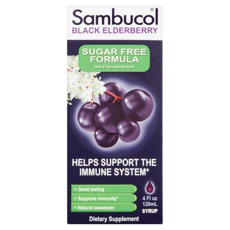 Sambucol Black Elderberry Sugar Free Syrup, 4 fl (Sambucol Syrup)