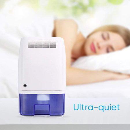 HURRISE Air Dehumidifier 700ml Ultra Quiet Portable Dehumidifier Moisture Absorber for Bedroom Kitchen (Ultra Aire Dehumidifier)