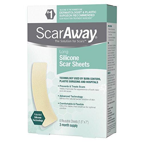 ScarAway Long Silicone Scar Sheets