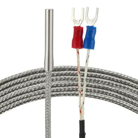 Temperature Sensor Cable - E Type Temperature Sensor Probe 1M Cable 4mm x 30mm Thermocouple