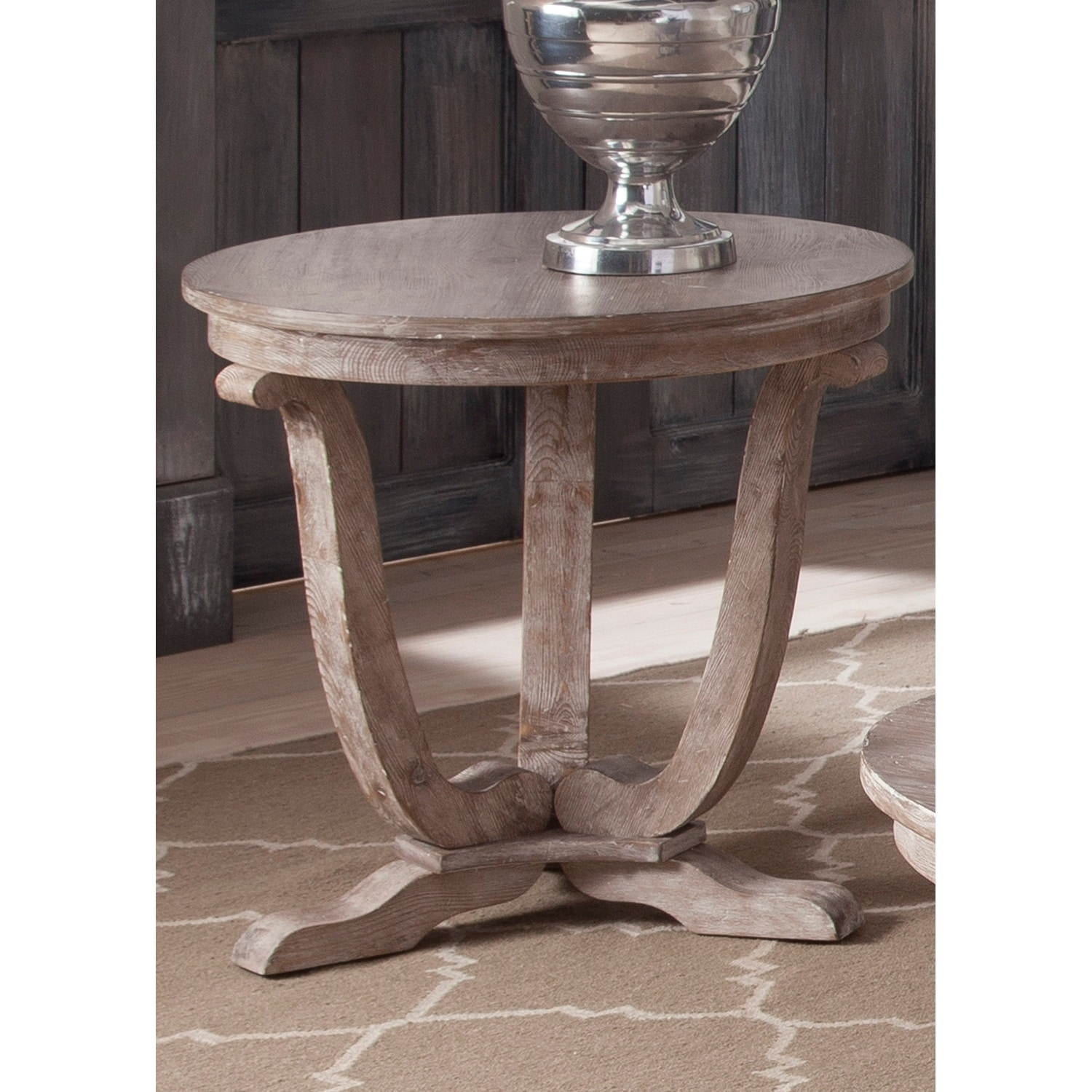 Liberty Greystone Mill Stone White Wash End Table