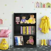 Furinno JAYA Simple Home 3-Tier Adjustable Shelf Bookcase, Multiple Colors