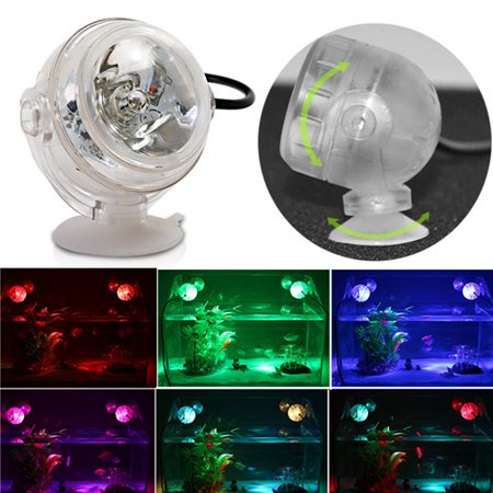 Moaere LED Waterproof Spotlight-Fish Tank Light Under water light Submersible Crystal Glass Lights