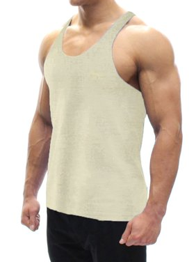 dfe2395cc5594 Product Image A Men s Tank Top Off-White 2X-Large. BODYSMART