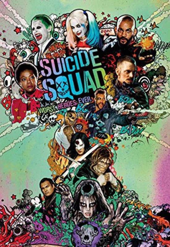 SUICIDE SQUAD One Sheet POSTER 24x36 rolled poster
