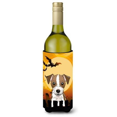 Halloween Jack Russell Terrier Wine Bottle Beverage Insulator Hugger BB1760LITERK - Halloween Potion Bottles Sale