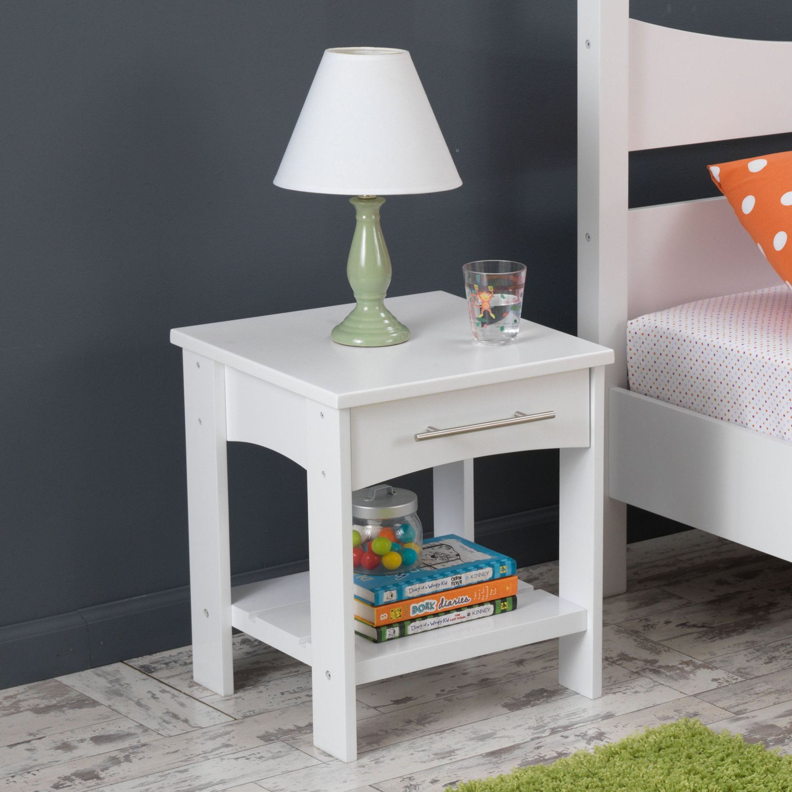 KidKraft Addison Toddler Side Table White 76272 by