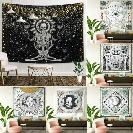 Mandala Skull Tapestry Wall Hanging Moon Phase Change Tapestries Bedroom Decor Walmart Canada