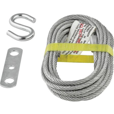 Stanley 730700 Heavy Duty Lift Cable with S-Hook and Joiner Clip 14 ft