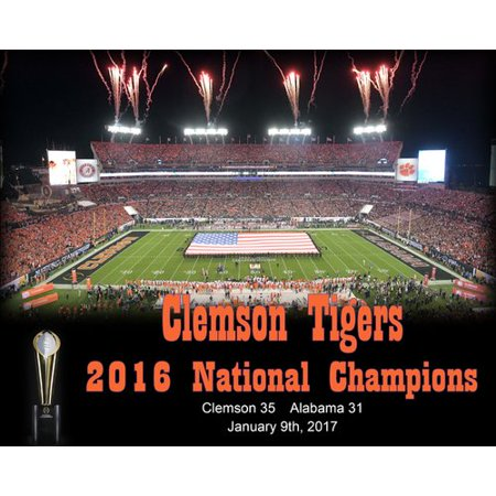 Frames By Mail Clemson Tigers 2016 Cfa National Champions Memorabilia On Wrapped Canvas