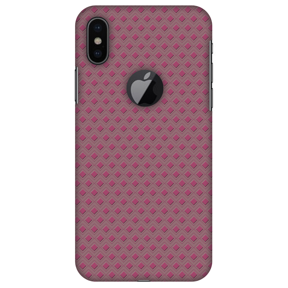 iPhone X Designer Case, Premium Handcrafted Printed Designer Hard ShockProof Case Back Cover for Apple iPhone X - Retro Diamond, Thin, Light Weight, HD Colour, Apple Logo Cut