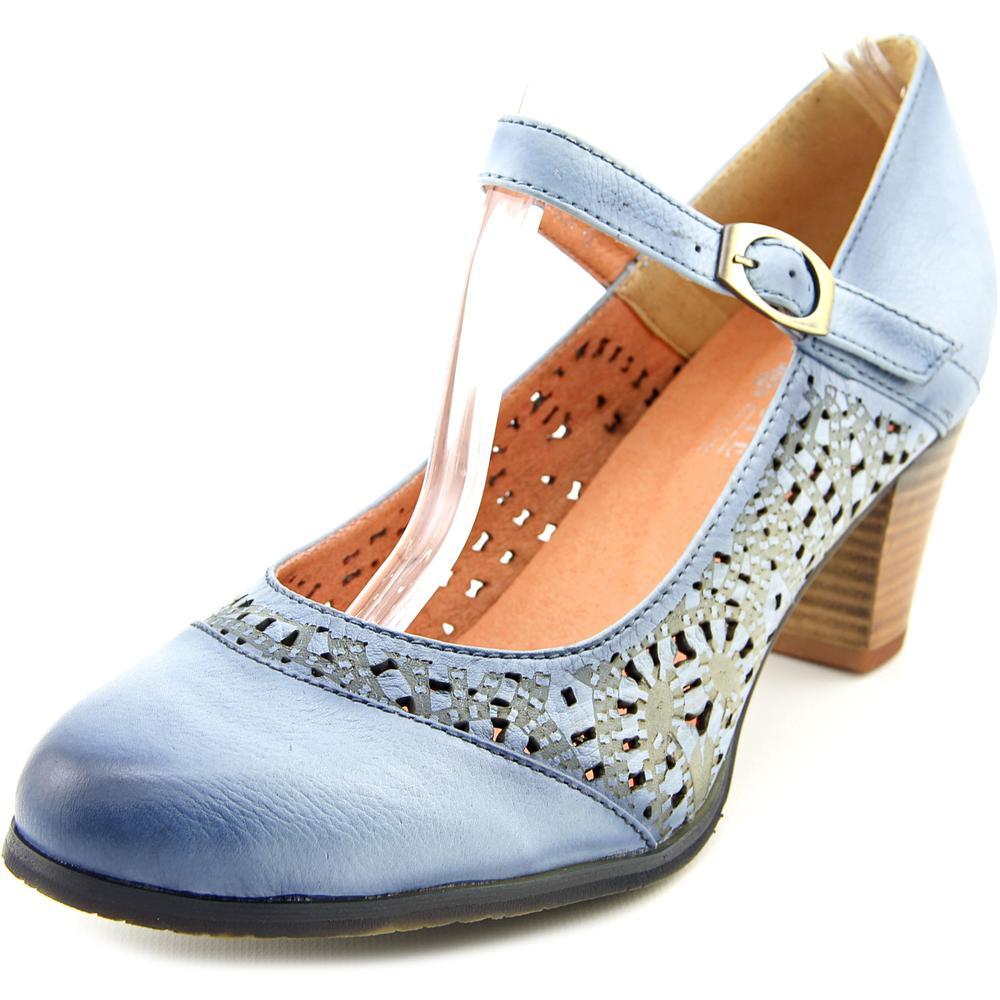 L'Artiste by Spring Step Efren Women Round Toe Leather Blue Mary Janes by L'Artiste by Spring Step