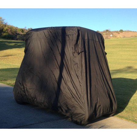 Covered Living Deluxe 2 Passenger Golf Cart Cover in Black roof up to 58