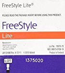 Freestyle LITE Blood Glucose Test Strips NEW Butterfly Design 1 box of 50