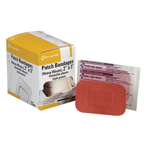 FIRST AID ONLY G160 Patch Bandage, Fabric, 2 x 3 In, PK25