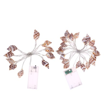 Homeholiday 10/20 LED Conch String Lights Beach Themed Party Battery-powered Bedroom Light Decoration - image 7 of 8