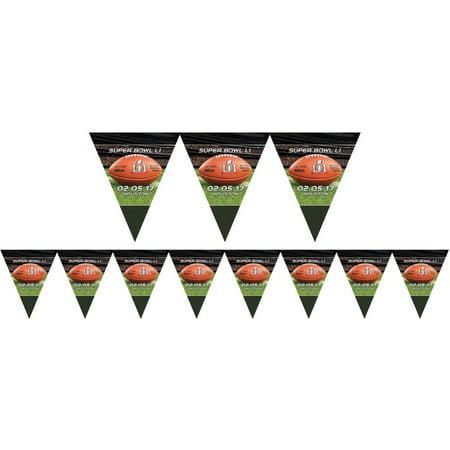 Amscan Super Bowl LI 51 Officially Licensed NFL Stadium 12 Ft Pennant Banner