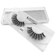 6f68f3161c9 3D Natural Fluffy Soft Mink Glue Adhesive Long Fake Eyelashes Pack Reusable  Image 2 of 3