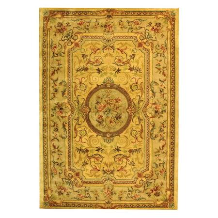 Safavieh Bergama London Hand-Tufted Wool Area Rug, Light (Bergama Brg174a Light)