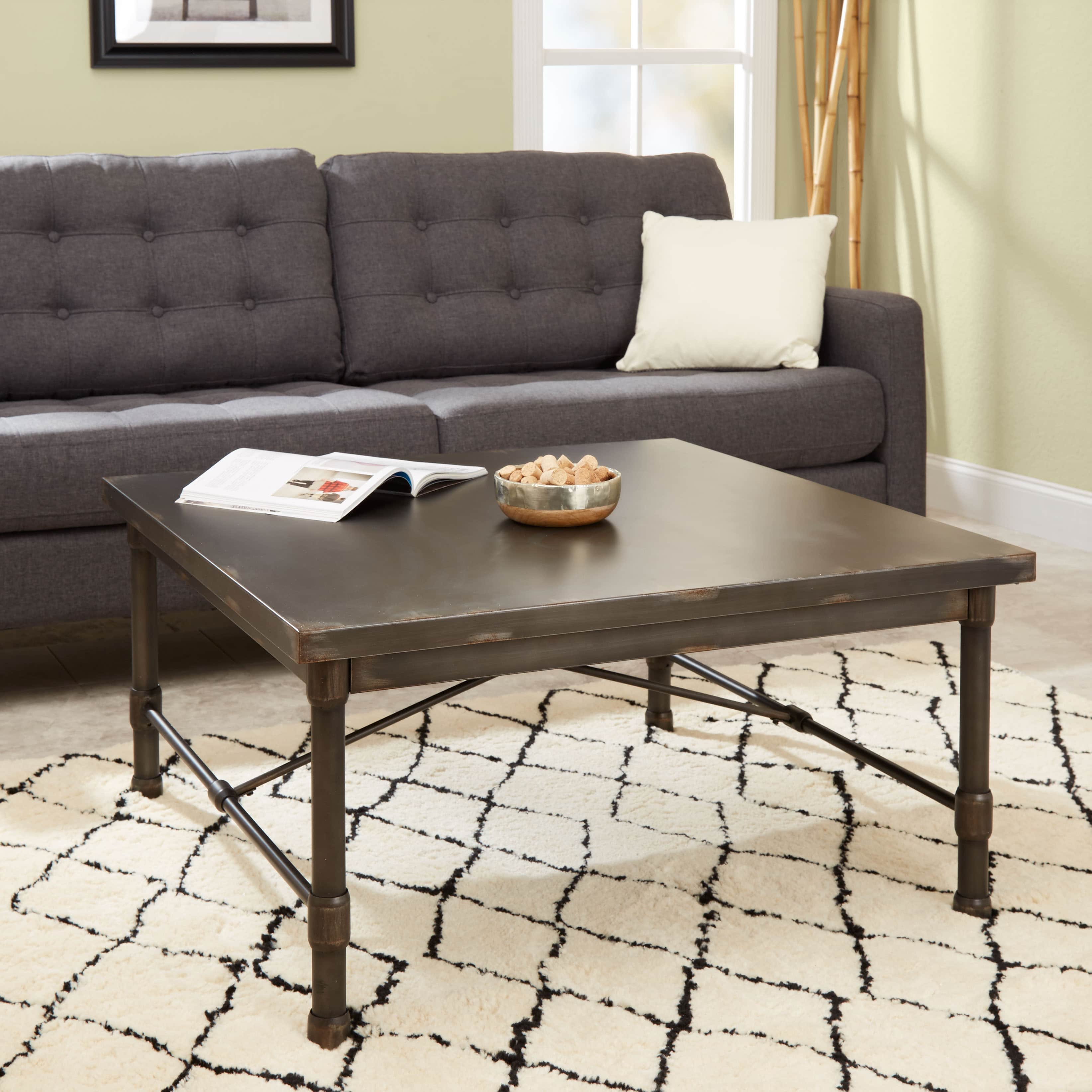 Silverwood Oxford Industrial Collection Square Coffee Table