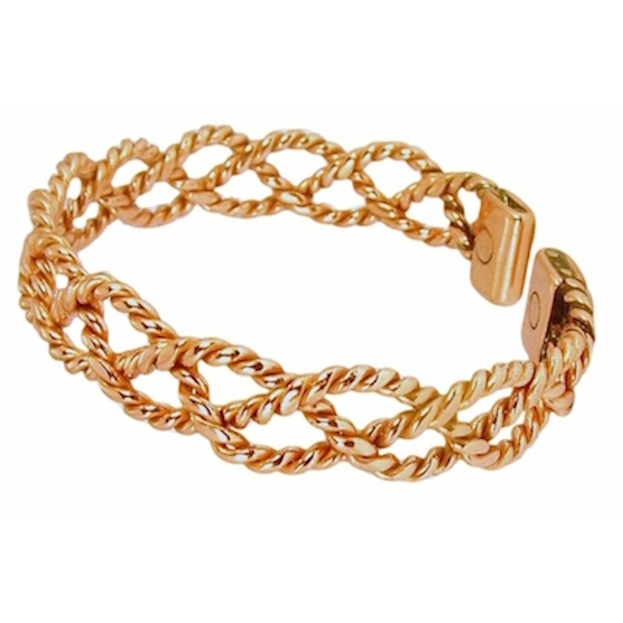 3ba4edb2c3 Solid Copper Womens Magnetic Cuff Bracelet Chloe Medium