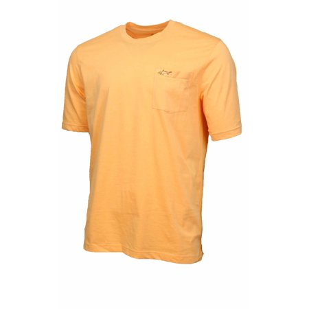 3c24b4620253 Greg Norman - GREG NORMAN Men's 100% Cotton T-Shirt with Chest Pocket  (Peach, XX-Large) - Walmart.com