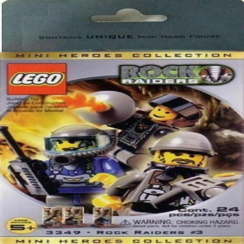Lego ROCK RAIDERS Mini Figure 3 Pack Set #3349 Mini Heroes ...