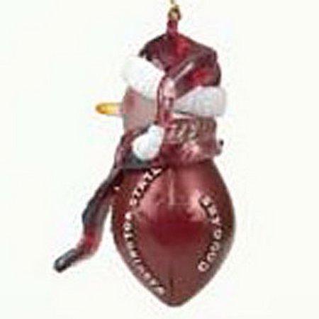 Sc Sports Snowman Football (Washington State Cougars Striped Acrylic Football Snowman Ornament )