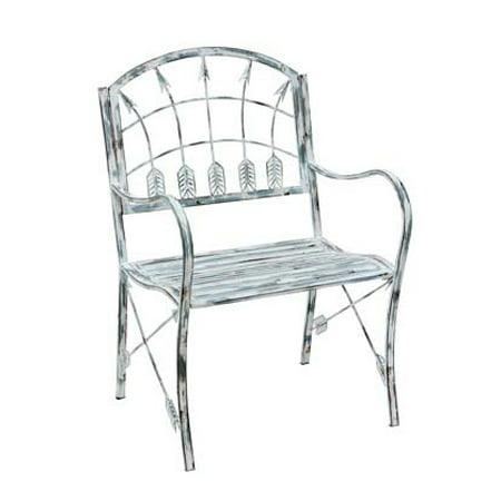 grey distressed finish arrow theme metal garden chair walmart com