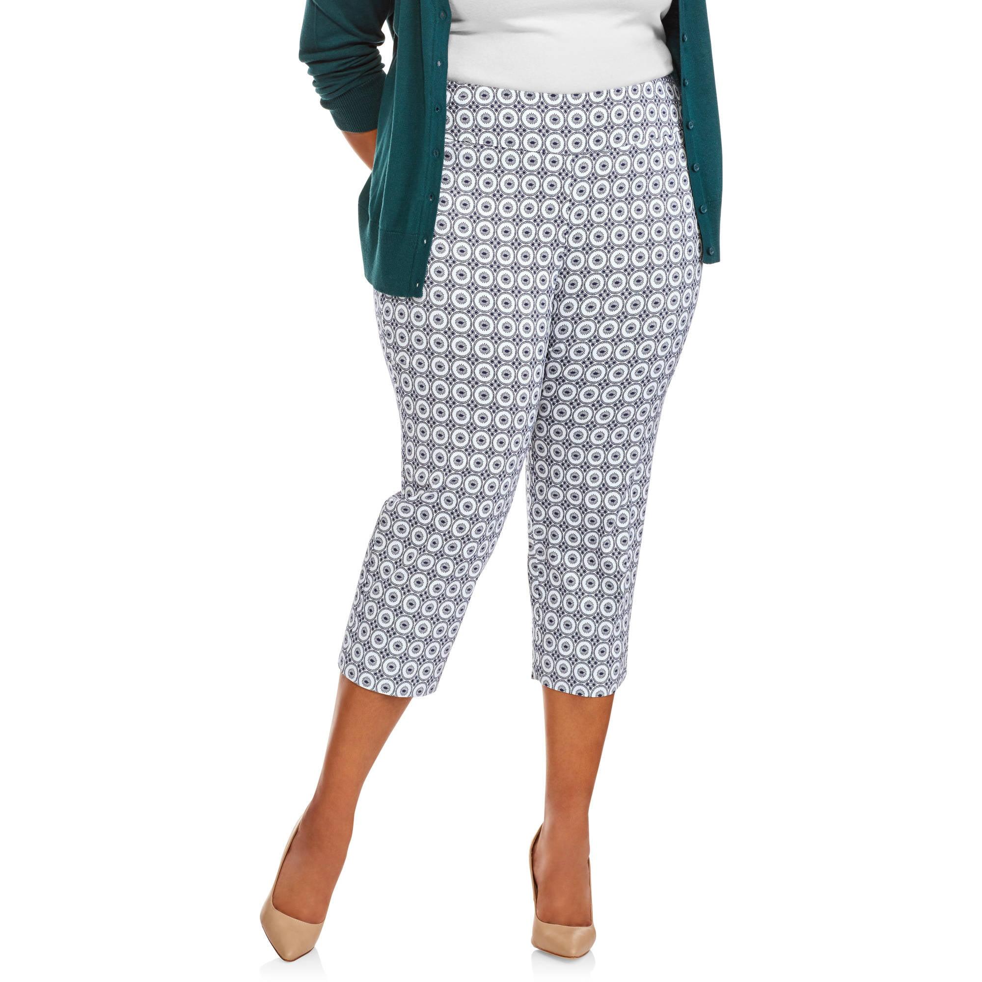 Lifestyle Attitude Women's Plus Capri Print Pants