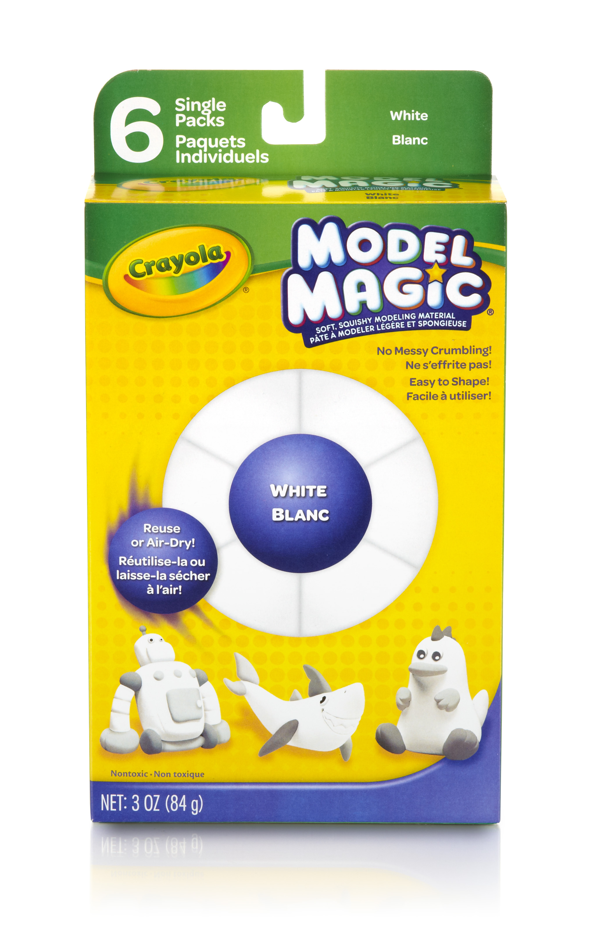 Crayola White Model Magic Modeling Material, 6 count by Crayola