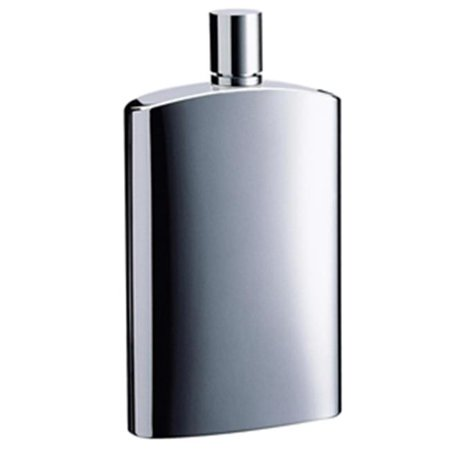 Visol VF2071 David Brushed Metallic Small Stainless Steel 4 oz. Hip Flask