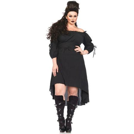 Womens Gauze High Low Peasant Costume](Peasant Lady Costume)