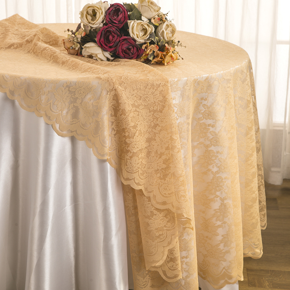 Wedding Linens Inc. 108u201d Lace Table Overlays, Lace Tablecloths Round, Lace  Table