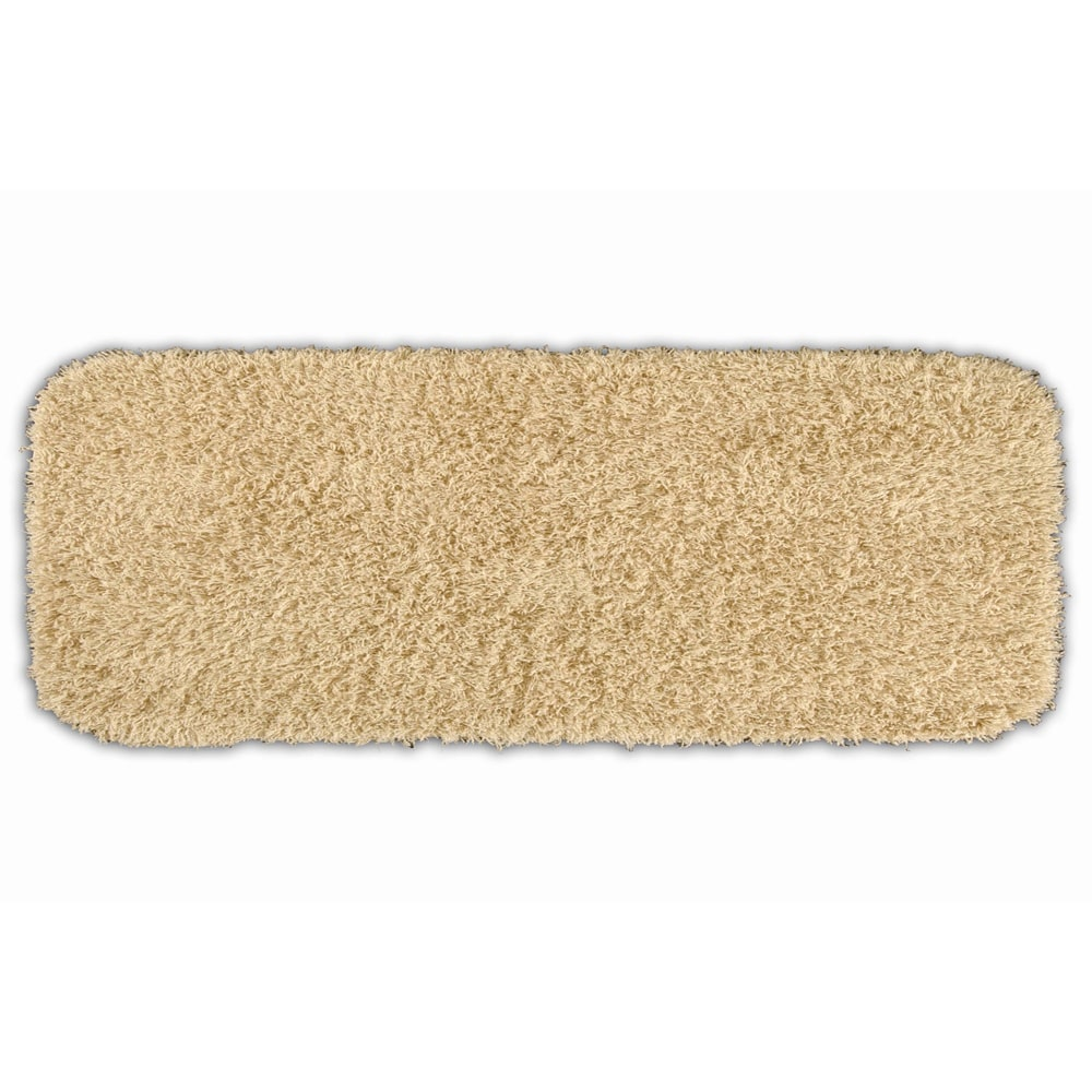 Somette  Quincy Super Shaggy Linen Washable 22 x 60 Bath Runner Rug