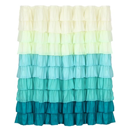 Spring Ruffle Shower Curtain With Buttonholes By Somerset Home