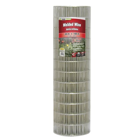 YARDGARD 2 Inch by 4 Inch Mesh, 36 Inch by 100 Foot 14 Gauge Galvanized Welded Wire Fence