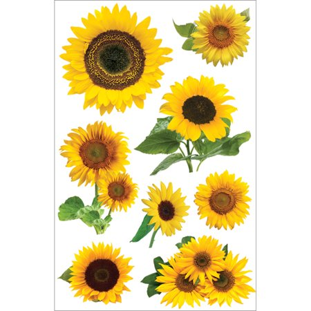 Paper House 3D Stickers, Sunflowers