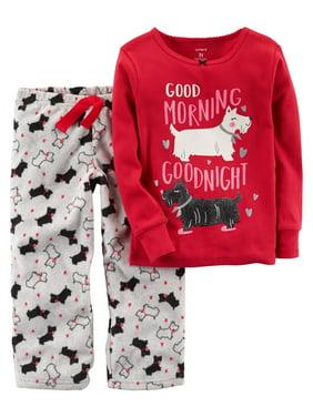 3c639289b Carter s Little Girls Pajamas   Robes - Walmart.com