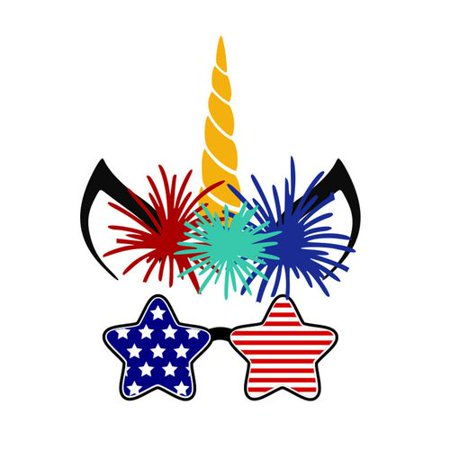 TURNTABLE LAB 1 PCS Independence Day Removable Wall Paste USA National Day Unicorn Mural Art Poster for Patriotic Party Decoration](Usa Decorations)