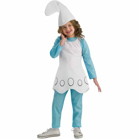 The Smurfs Smurfette Child Halloween (Children's Book Character Costumes Ideas)