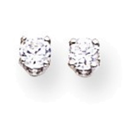 14k White Gold 2 9mm Round Single Stud Earring Mountings