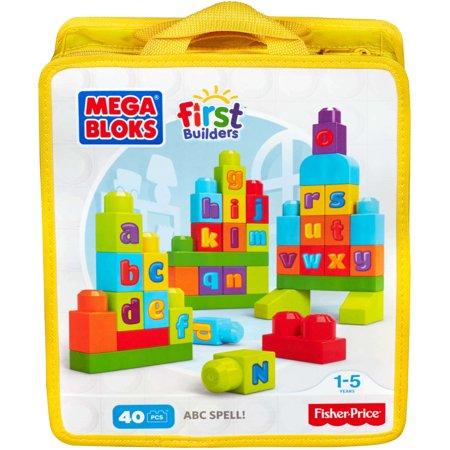 Mega Bloks First Builders Abc Spell Playset