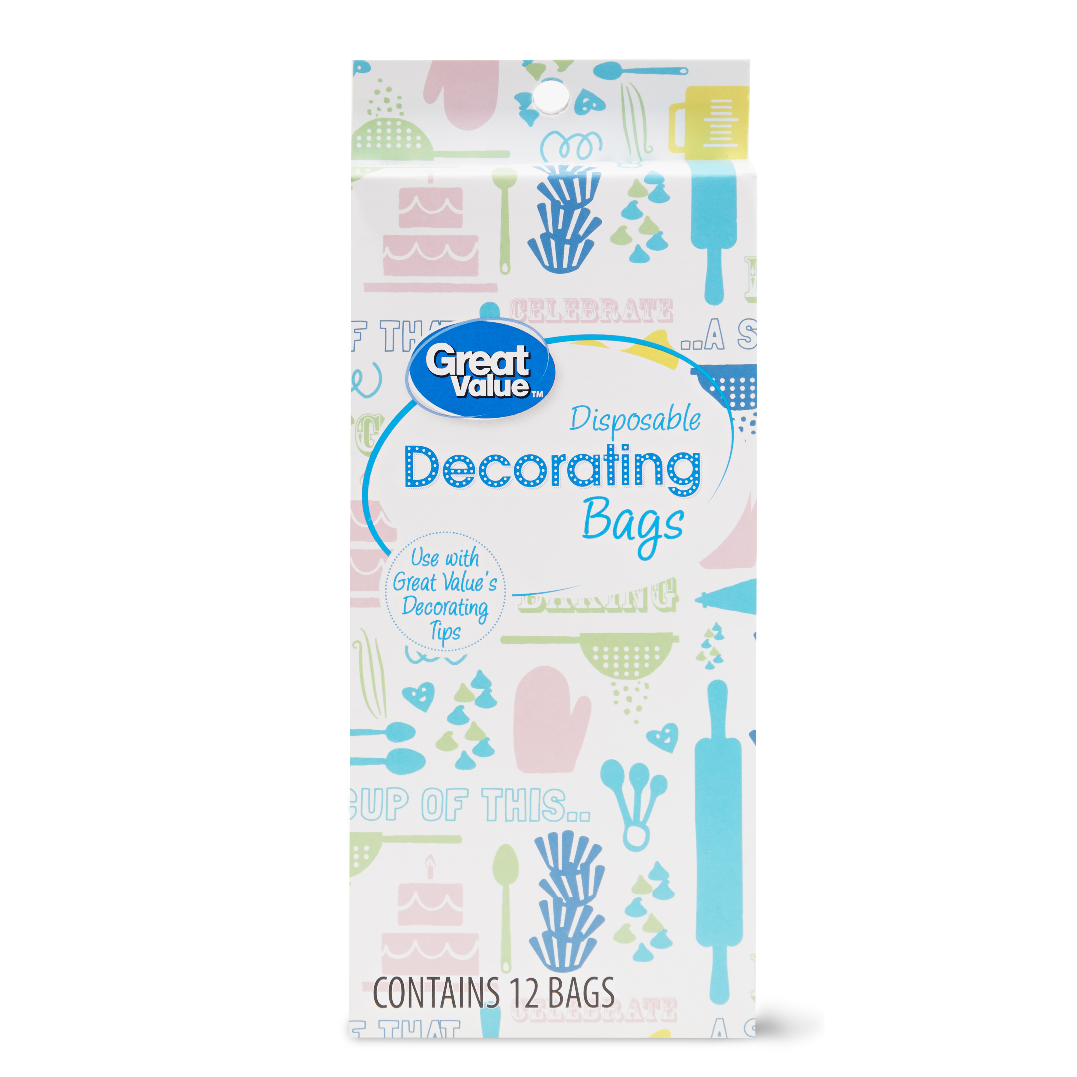 Great Value Disposable Decorating Bags, 12 Count