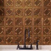Fasade  Traditional Style #4 Muted Gold Backsplash Panel