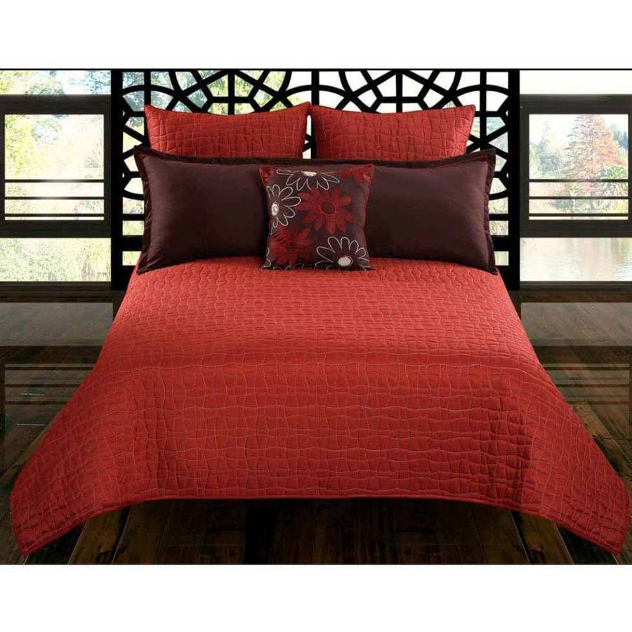 Riverbrook Home Charleston 5-Piece Red Bedding Comforter Set
