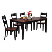 Boswell Dining Set-Finish:Distressed Light Cherry/Black,Quantity:5 Piece