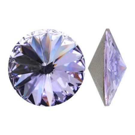 Swarovski Crystal Beads Fancy Earring - Swarovski Crystal, #1122 Rivoli Fancy Stones 14mm, 2 Pieces, Violet Sf
